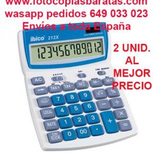 Calculadora Ibico 212X Oferta 2 unidades al Mejor Precio. La Mejor y Más Completa Calculadora de Sobremesa la calculadora Ibico 212X con Teclado Grande Pantalla 12 dígitos y Teclas en Relieve Súper Rápidas