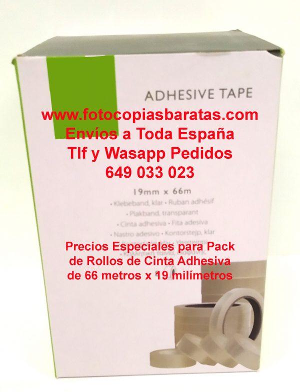 Cinta Adhesiva Transparente Barata de 66x19 Pack Oferta de 32 Rollos Envíos a Toda España Portes Gratis Cinta Adesiva trasparente Corte Fácil Resistente Cinta Adhesiva al Mejor Precio Portarrollos Sobremesa Oficina Mostrador