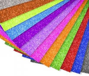 Goma Eva Brillantina Purpurina Barata Láminas de 70 x 50 x 2mm de 12 Colores Brillantes Surtidos Diferentes a Escoger por Ustedes Tras su compra les llamamos y Deciden Qué Colores Quieren Recibir
